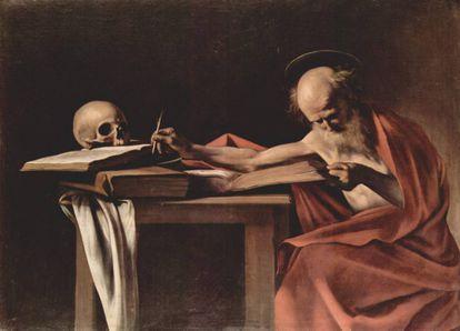 'San Jerónimo escribiendo', cuadro de Caravaggio.