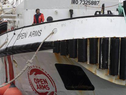 La embarcación española 'Open Arms', el día de ayer en el Port de Barcelona.