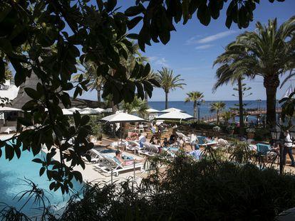 Beach Club del Marbella Club hotel, este jueves.