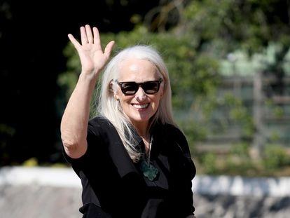 Jane Campion, antes de la proyección de gala de su película, hoy en Venecia.