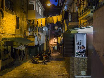 Barrio de Santa Lucia de Nápoles.
