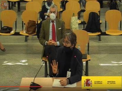 Gonzalo Urquijo, uno de los socios de Unifica, durante su declaración como acusado en el juicio.