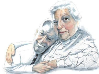 Carmen Balcells y Mario Vargas Llosa
