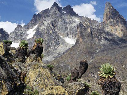 El Monte Kenia, la segunda montaña más alta de África.