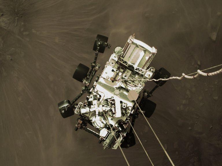 Aterrizaje de 'Perseverance' en Marte, el 18 de febrero.