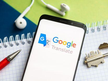 Logo de Google Translate en un teléfono móvil.