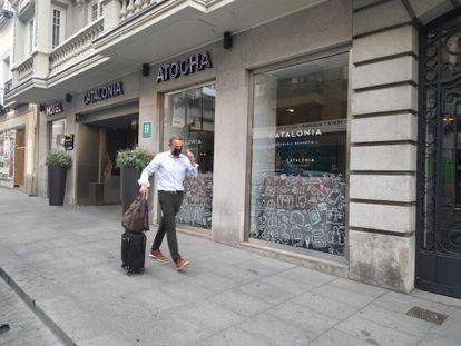 Fachada del hotel Catalonia Atocha, este jueves.