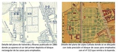 Detalle de los planos que incluyen el bloque de casas.