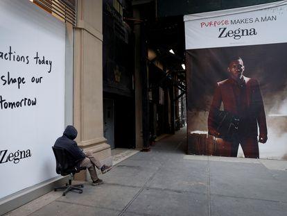 Un anuncio de Ermenegildo Zegna en Nueva York.