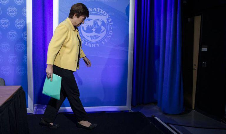 Kristalina Georgieva, directora gerente del FMI, el pasado marzo en la sede del organismo en Washington.
