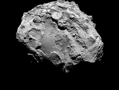 El cometa 67P/Churyumov-Gerasimenko, fotografiado por la sonda 'Rosetta'.