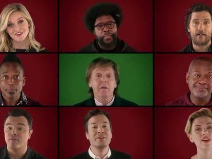 El villancico de los famosos de esta Navidad