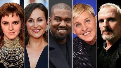 Emma Watson, Ana Milán, Kanye West, Ellen Degeneres y Miguel Bosé.