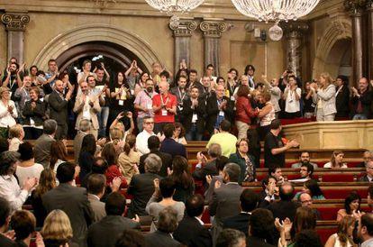 El Parlamento catalán aprueba la ley antihomofobia