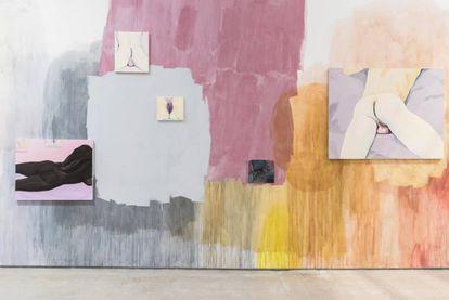 Vista de la exposición de Celia Hempton en Londres.