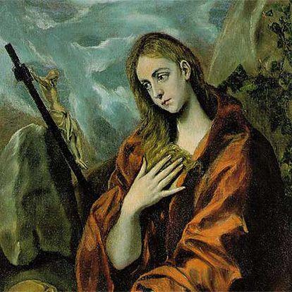 Cuadro de El Greco que representa a María Magdalena haciendo penitencia (Museu del Cau Ferrat).