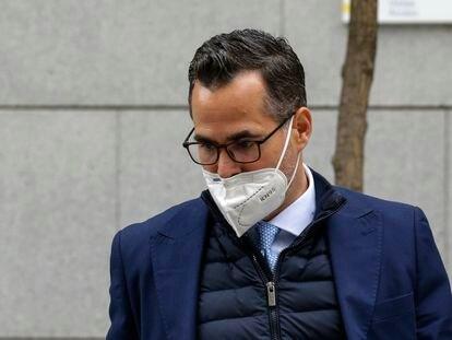El fiscal Ignacio Stampa sale, en octubre pasado, de la Audiencia Nacional en Madrid.