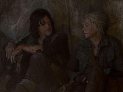 Daryl (Norman Reedus) y Carol (Melissa McBride), en la décima temporada de 'The Walking Dead'.