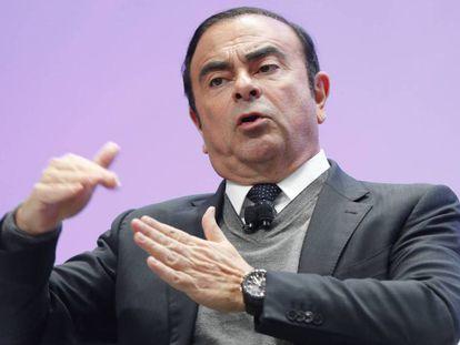 Carlos Ghosn, en una foto de archivo. En vídeo, declaraciones del presidente francés, Emanuel Macron.