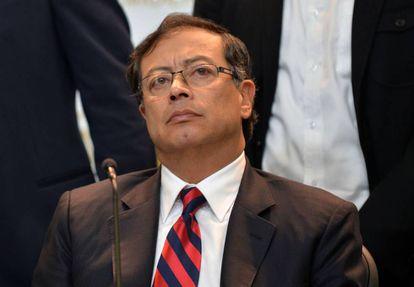 Gustavo Petro, en un conferencia de prensa el 20 de julio.