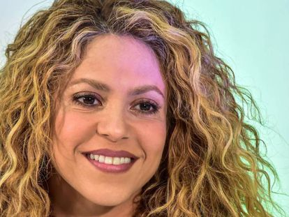 Shakira en la rueda de prensa previa a la inauguración de los Juegos Centroamericanos y del Caribe de Barranquilla, Colombia, el 19 de julio de 2018.