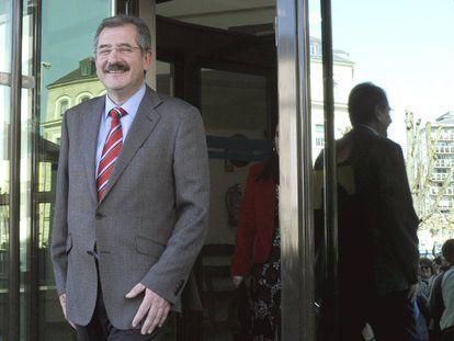 El ex subdelegado del Gobierno en Lugo, tras declarar ante la juez en marzo de 2009.
