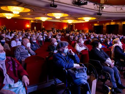 Espectáculo en el Teatro EDP Gran Vía de Madrid, la semana pasada.