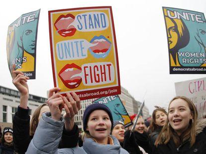 Manifestación de mujeres en enero de 2018 en Berlín.