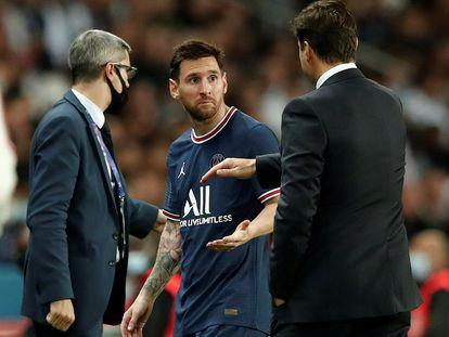 Lionel Messi, sustituido por Pochettino.