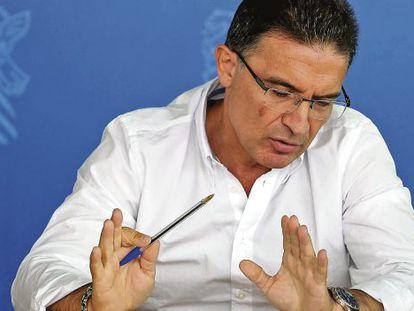 Serafín Castellano, en agosto de 2013, cuando negó haber dejado que le pagaran las cacerías.