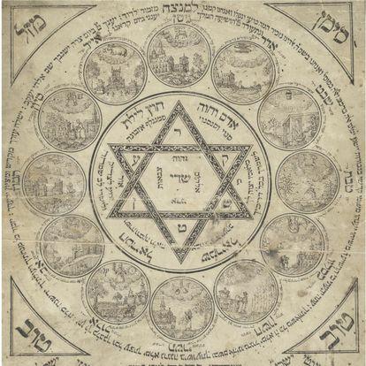 Amuleto de nacimiento del siglo XVIII.