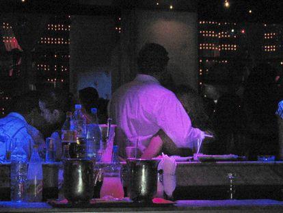 Un club nocturno en la ciudad de Marrakech.