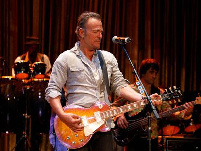 Bruce Springsteen, en un concierto en 2017 en Asbury Park (Nueva Jersey).