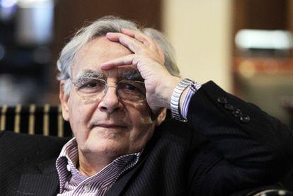 Bernard Pivot, durante su visita de ayer a Madrid, donde recogió el premio Antonio Sancha de los editores madrileños.