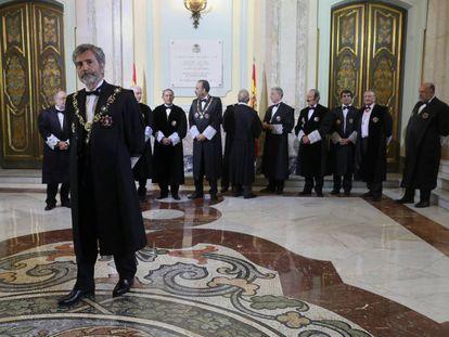 Carlos Lesmes en la apertura del año judicial.