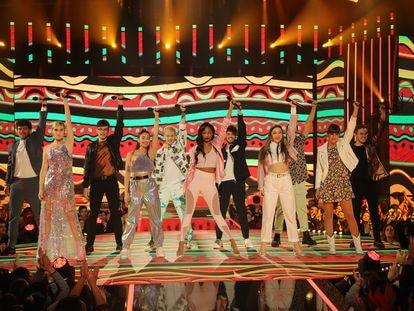 Los concursantes de 'Operación Triunfo' durante la gala 7.
