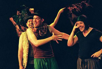 Actores de la compañía de Tim Robbins en 'El sueño de una noche de verano'.