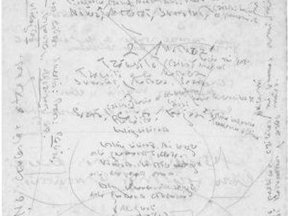 Esquema manuscrito de Juan Ramón Jiménez para su autobiografía, 'Vida'.