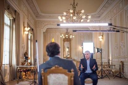 El presidente de Colombia, Iván Duque, durante la entrevista.