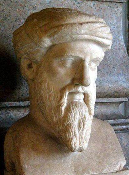 Pitágoras (Samos, <i>circa</i> 582 antes de Cristo-<i>circa</i> 500 antes de Cristo).