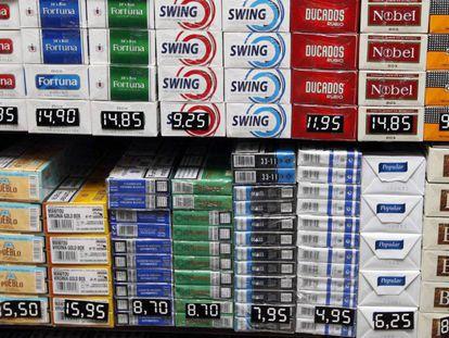 Tabaco expuesto en un estanco, en una imagen de archivo.
