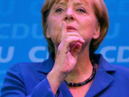 Angela Merkel, hoy, en Berlín.