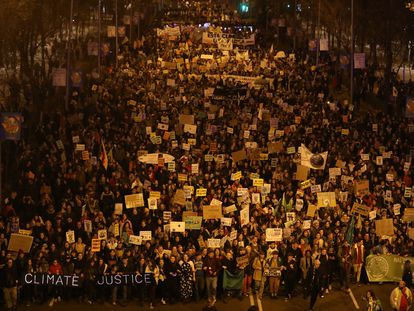 Marcha a favor de la lucha contra el cambio climático, en diciembre de 2019 en Madrid.