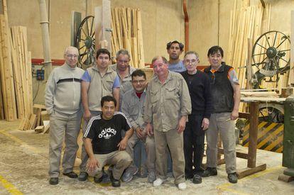 Socios de la Cooperativa de Trabajo Maderera Córdoba en Buenos Aires.