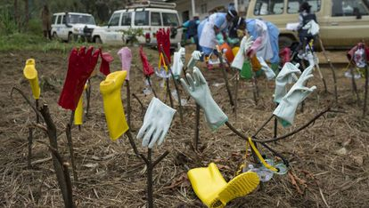 Material descontaminado de un equipo médico en República Democrática del Congo el pasado agosto.