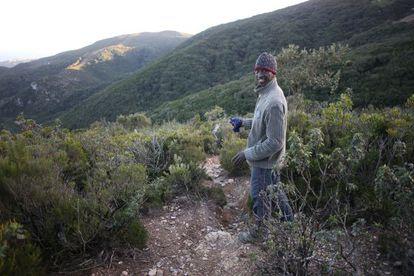 El maliense Buback, en los montes que rodean Ceuta.