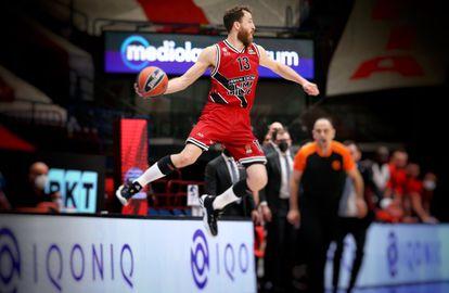 Sergio Rodríguez, en un partido de Euroliga con el Olimpia Milán /Getty