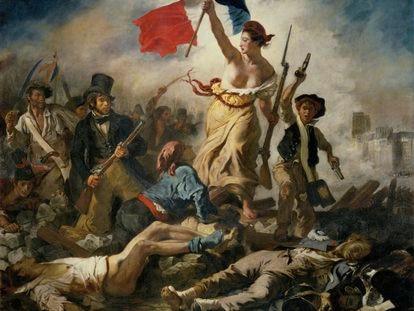 'La libertad guiando al pueblo'.