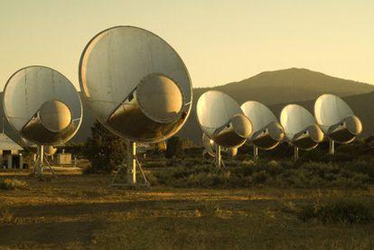 Conjunto de telescopios Allen, en California, del programa SETI de búsqueda de inteligencia extraterrestre.