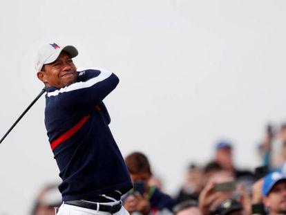 FOTO: Tiger Woods este viernes durante su participación en la Ryder Cup en Saint Quyentin-en-Yvelines (Francia). / VÍDEO: Victoria de Europa ante EE UU en la Ryder Cup.